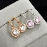 Korean-Style Exquisite Ear Stud S925 Sterling Silver Pin Simple Ear Stud Earrings Girl Zircon Ear Pendant Qx1375
