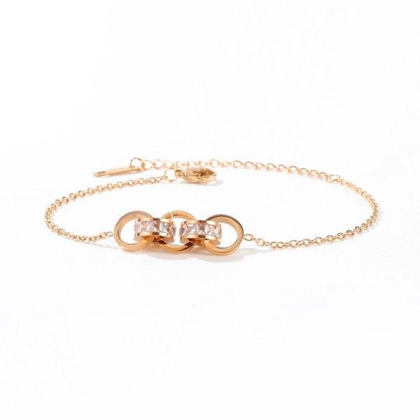 South Korea New Hot Selling Ring Bracelet Creative Fashion Ring Interlocking Titanium Steel Bracelet Women Gift Gb1069