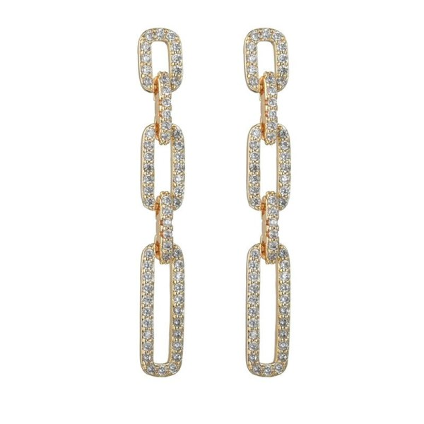 Geometric Earings Long Fashion Elegant  Eight Hearts and Eight Arrows Zircon S925 Silver Needle New Gorgeous earrings Qx1511