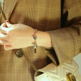 Simple Ins Style Lovely Square Titanium Steel Bracelet Fashion Design Korean Cool Trendy Women Bracelet Ornament Gb1084