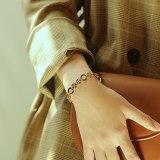 European and American Hot Selling New Love Circle Roman Numerals Women Titanium Steel Bracelet Factory Direct Gb1077