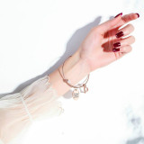 Hot Selling Creative Lettering She believed she could Inspirational Heart Bracelet Titanium Steel Women Bracelet Bangle Gb961