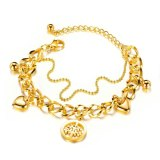 Popular Fashion Multi-Layer Heart Bracelet Hand Jewelry Stainless Steel Hollow Tree of Life Titanium Steel Women Bracelet Gb1037