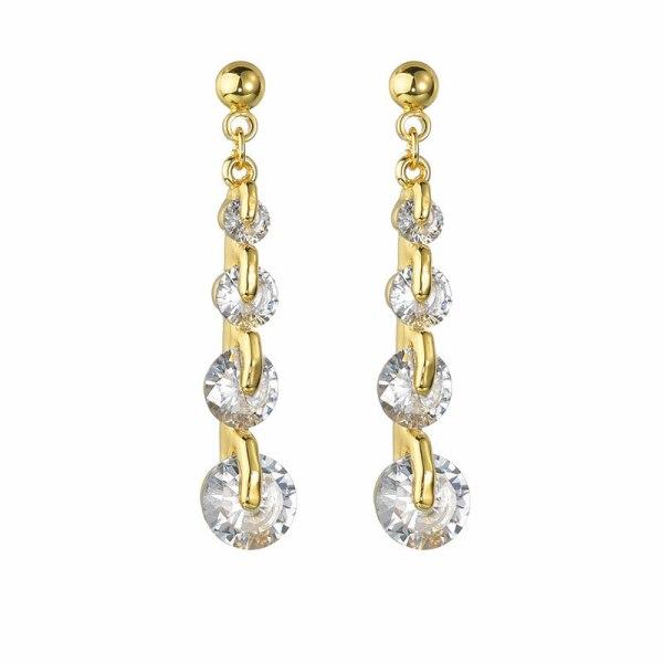 Earrings Long Ear Stud Elegant Korean Ear Pendant 925 Sterling Silver Silver Needle New Style Simple Qx1473