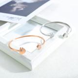 Hot Selling Women's Stainless Steel Opening Love Bracelet Titanium Steel Heart Bracelet Bangle Girlfriend Gift Gb958