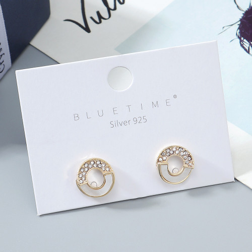 Popular shell earrings ladies 925 silver pin earrings ps142633