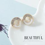 Popular shell earrings ladies 925 silver pin earrings ps142633