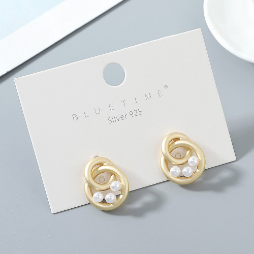 Creative Pearl S925 Silver pin earring for women ps142629