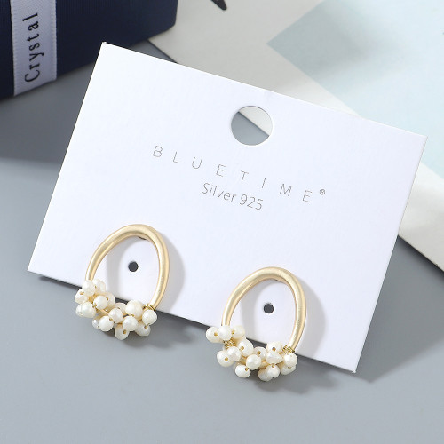 Popular ins trend line explosion pearl S925 silver pin earrings ps142630