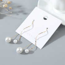 Gold-plated retro fashion wild temperament creative popularity popular pearl earrings ps142685