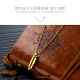 European and American Style Jewelry Cool Fashion Stainless Steel Bullet Pendant Men's Titanium Steel Necklace Gift Gb1572