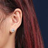 925 Sterling Silver Ear Stud Women's Fashion Retro Korean Zircon Small Ear Stud Silver Mle2075