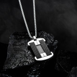 New Men's Stainless Steel Necklace Cool Tag Pendant Titanium Steel Stylish Guy's Military Brand Necklace Gb1615