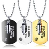 Ornament Wholesale European and American Cool Fashion Military Pendant Hip-hop Rock Bullet Men's Necklace Gift Gb1590