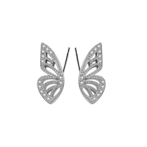 S925 Sterling Silver Earrings 2020 New Style Butterfly Zircon Earrings Korean Small Jewelry Earrings for Women MLE2134
