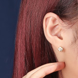 925 Sterling Silver Earring Stud Female Fashion Retro Korean Flower Small Earring Silver Accessories Factory Wholesale mlE2076