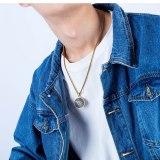 New Ornament Wholesale Retro Religious round Pendant Fashion Classic Cross Men's Necklace Gb1570