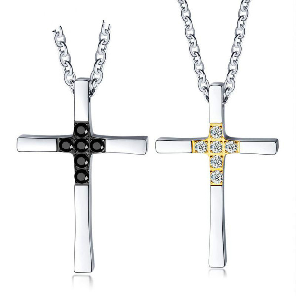 Korean-Style Hot-Selling Clavicle Chain Cool Simple Stainless Steel Pendant Couple's Titanium Steel Necklace Lovers' Gift Gb1586