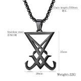 Hot Selling Ornament Stainless Steel Lucifer Badge Envelope Seal Pendant Titanium Steel Men's Necklace Gb1610