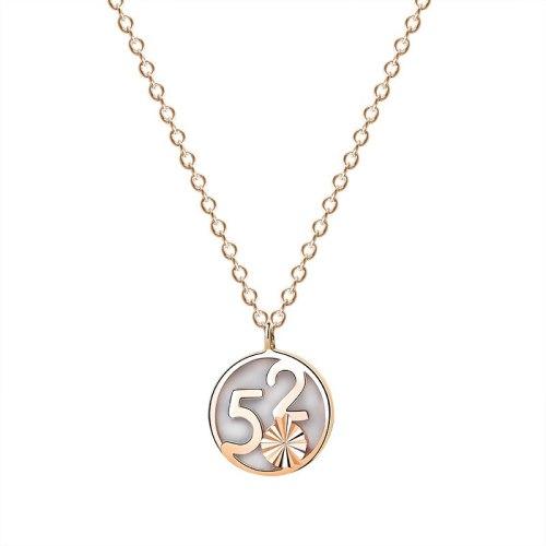 S925 Sterling Silver 520 Digital Shell Necklace Female Fashion Retro Korean Valentine's Day Gift Clavicle Chain Mla1886