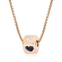 Creative Diamond Set Dice Lovely Pendant Stainless Steel Hip Hop Popular Women's Necklace Jewelry Gb1652