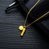 Factory Direct Fashion Ins Round Capsule Pill Necklace Men and Women Can Open Titanium Steel Pendant Necklace Gift Gb1585