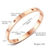 Hollow Star Stainless Steel Men and Women Bracelet Five-Pointed Star Titanium Steel Women's Bracelet Lovers' Gift Gb960