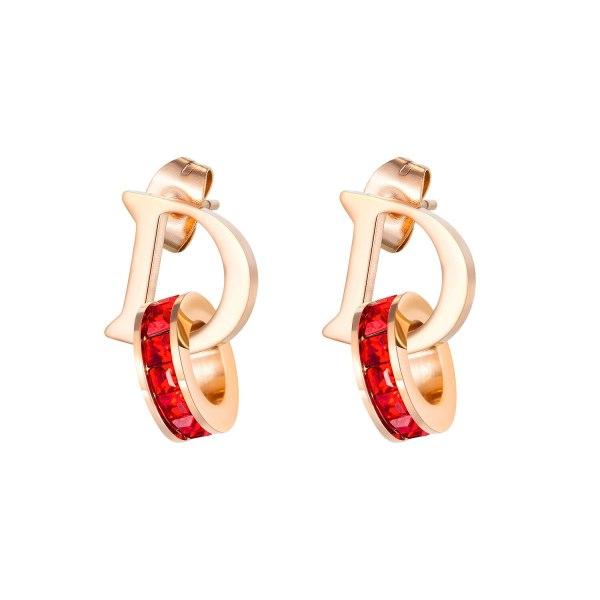 Korean-Style Titanium Steel Letter D Ear Stud Female New Style Popular Earrings Fashion Women Ear Stud Gift Wholesale Gb593