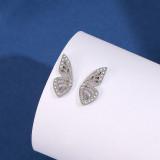 S925 Sterling Silver Earrings 2020 New Style Butterfly Zircon Earrings Korean Small Jewelry Earrings for Women MLE2134