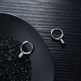 Hot Selling Cool Simple Stainless Steel Spring Hoop Earrings Titanium Steel Men's Ear Stud Earrings Gifts Gb558