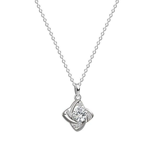 S925 Silver Necklace 2020 New Zircon Windmill Necklace Korean Popular Necklace Silver Wholesale Mla1984