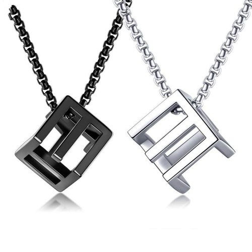 Cool Hip-hop Hollow Couple Pendant Three-dimensional Square Love Rubik's Cube Men and Women Necklace jewelry GiftGb1574