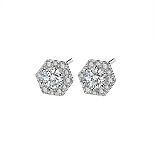 925 Sterling Silver Earring Stud Women's Vintage Korean-Style Zircon Diamond  Small Stud earrings Jewelry Factory Ml2073