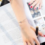 Korean-Style Fashion Sweet Hand Jewelry Titanium Steel Rose Gold-Plated Knotted Bracelet Women's Bracelet Gift Gb1036