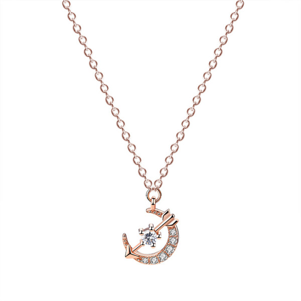 S925 Sterling Silver Necklace Han 2020 New Xingyue Zircon Fashion Necklace Jewelry Mla1576