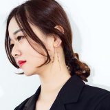 Korean Fashion All-match Earrings Cool Temperament Long Tassel Beads Earring Pendant Titanium Steel Women's Earrings gb567