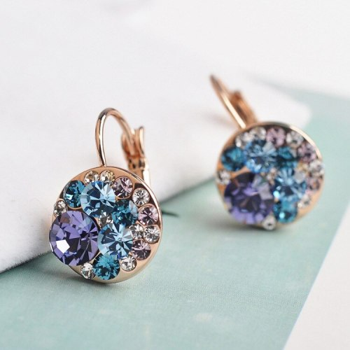 Fashion Earring Diamond Set Cute Ear Stud Rose Gold Crystal Earrings Elegant Cool Ear Clip 881062