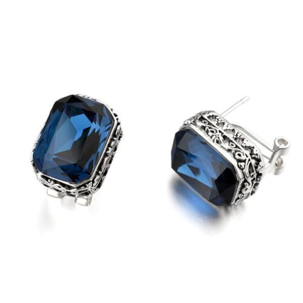 Fashion Vintage Ear Stud High-End Vintage Crystal Ear Pin Crystal Earrings Fashion Jewelry 87217