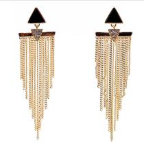 New Fashion Earrings Cool Fashion Tassel Ear Stud Drop Oil Diamond Set Ear Pendant Wholesale 85644