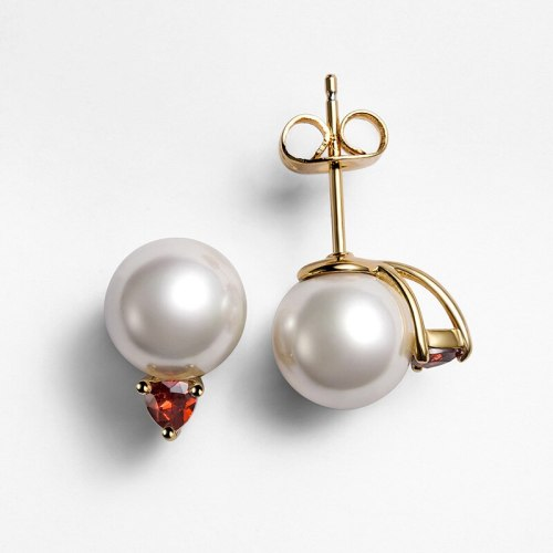 Fashion Simple New Style Zircon Inlaid Pearl Ear Stud Temperament All-match Pearl Earrings Ear Stud Wholesale 87921