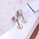Simple Fashion All-match Stud earring Female Anti-Allergy Silver Needle Temperament  Long Pearl Earrings Ear Pendant 080537
