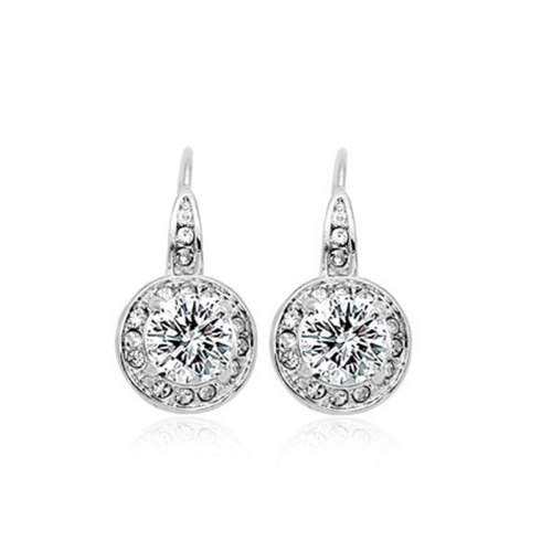 Classic Hot Selling Zircon Ear Hook Ornament Crystal High-End Earrings 86100