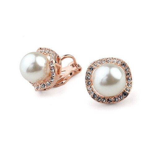 Fashion Pearl Earrings Ear Stud Korean Style Micro Diamond Set Ear Clip Ear Stud Birthday Gift 84824