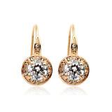 Classic Hot Selling Zircon Ear Hook Ornament Crystal High-End Earrings 86100