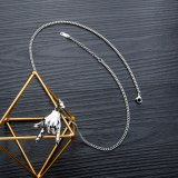 Ornament Cool Design New Titanium Steel Punk Rock Gesture Pendant Vintage Hip Hop Stylish Men Necklace Gb1510