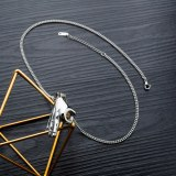 New Wholesale Personalized Creative OK Gesture Pendant Vintage Men and Women Titanium Steel Necklace Punk Pendant Gb1509