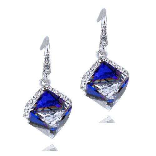 High Quality Jewelry Wholesale Fashion Elegant Female Cubic Crystal Earrings 87241