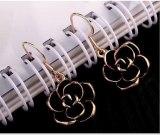 Valentine's Day Gift Korean Fashion All-match Black Rose Ear Ring Earrings Elegant Commuter Stud Earring 881005