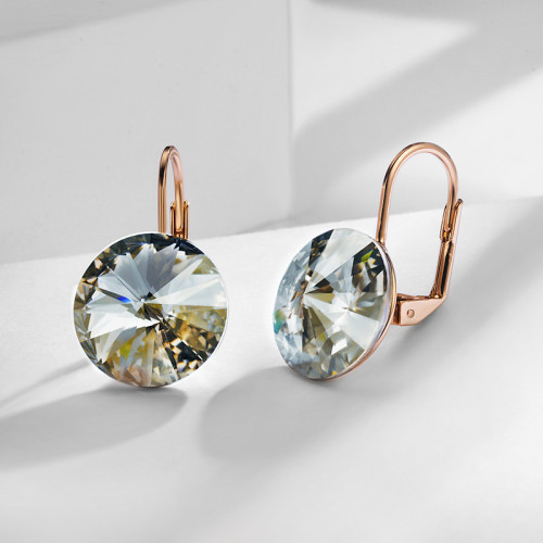 Crystal Earrings Female Temperament Korean Cool All-match Simple Ear Stud Atmosphere Fashion Earrings 85947