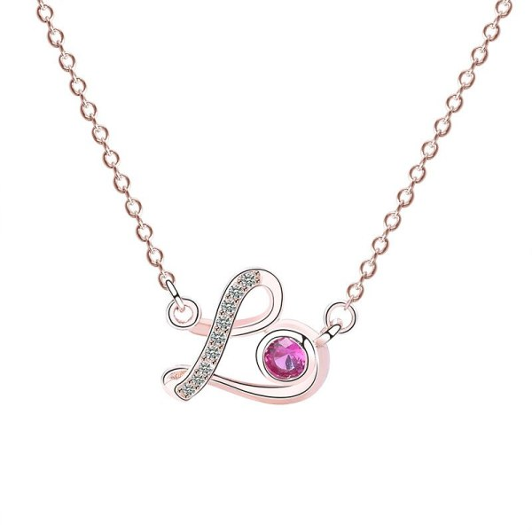S925 Sterling Silver Ornament Female Hipster Lovely Necklace Micro Pave Zircon Necklace Silver Jewelry Custom Wholesale Mla552a